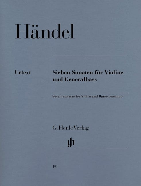 HAENDEL - 7 Sonatas for violin and basso continuo - Partition - di-arezzo.com