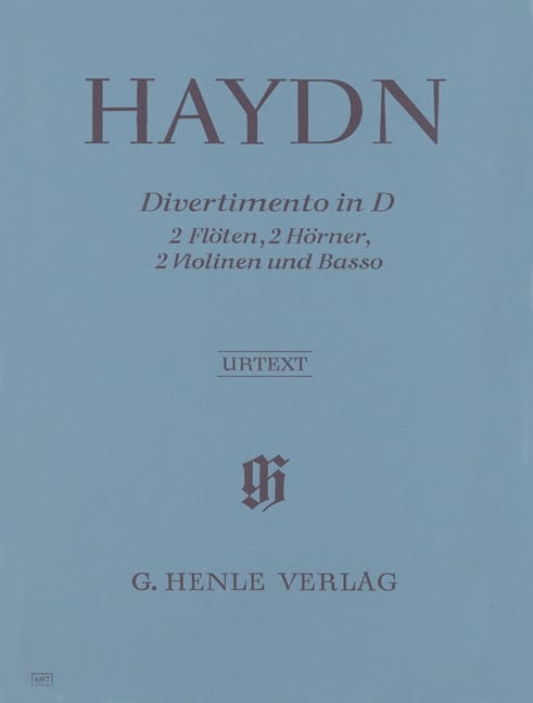 Divertimento in D-Dur - 2 Flöten 2 Hörner 2 Violinen Basso - Partitur + Stimmen - laflutedepan.com