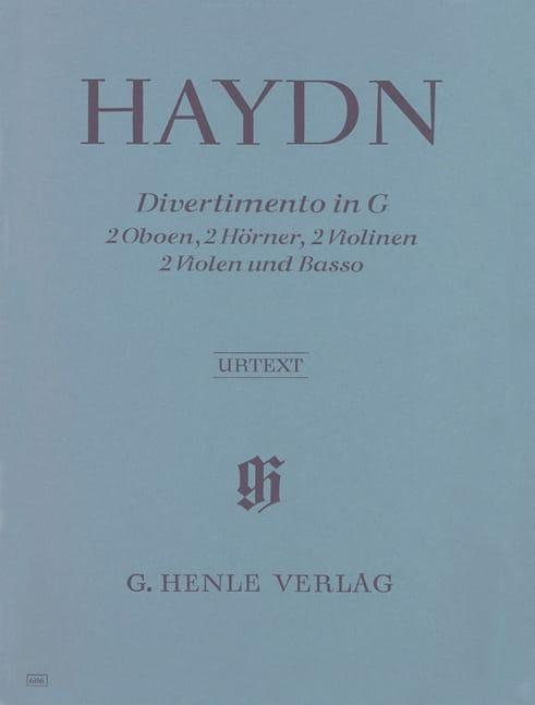 HAYDN - Divertimento G-Dur - 2 Oboen-2 Hörner-2 Violinen-2 Violen-Basso - Partition - di-arezzo.co.uk