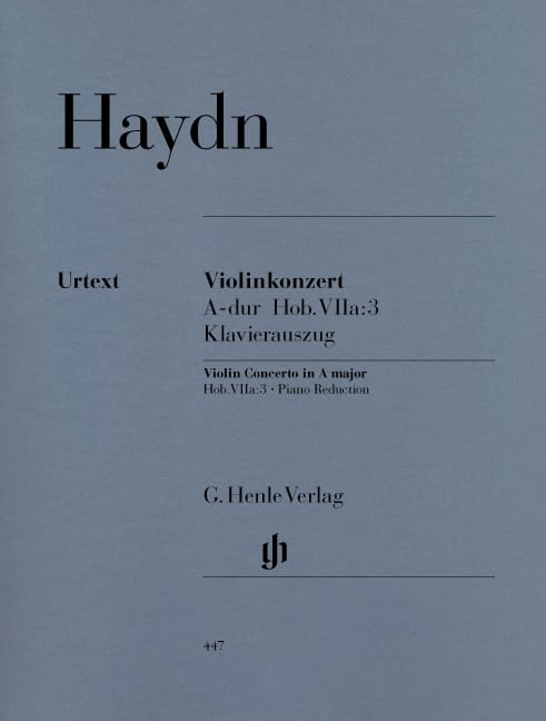 Concerto pour violon en La majeur Hob. VIIa:3 - laflutedepan.com