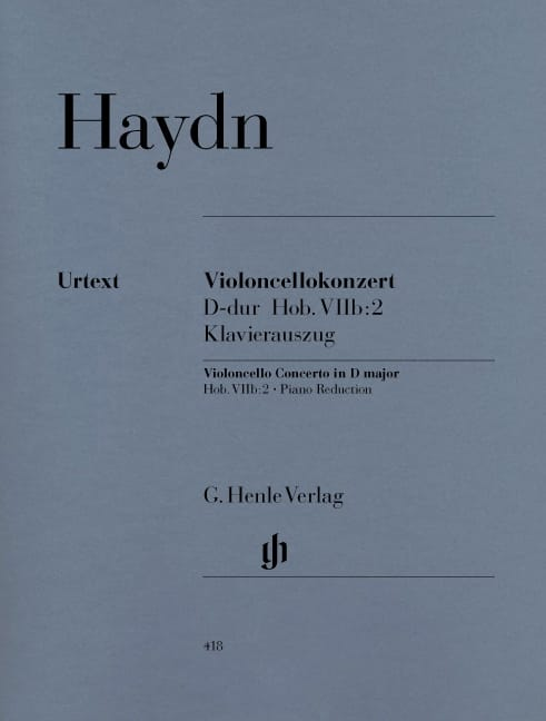 HAYDN - Cello Concerto in D major Hob. VIIb: 2 - Partition - di-arezzo.co.uk