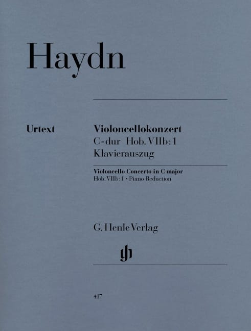 HAYDN - C Major Cello Concerto Hob. VIIb: 1 - Partition - di-arezzo.com