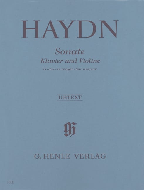 HAYDN - Sonata for violin in G major Hob. XV: 32 - Partition - di-arezzo.com