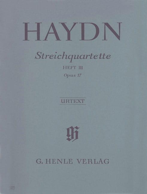 Quatuors à cordes volume III, op. 17 - HAYDN - laflutedepan.com