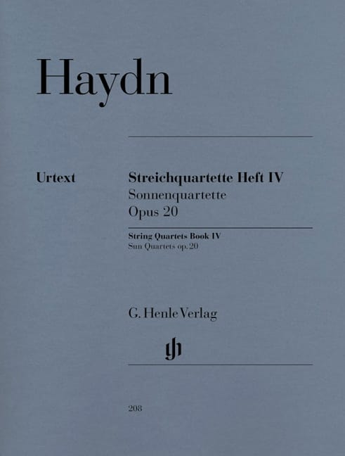 HAYDN - String quartets volume IV, op. 20 - Partition - di-arezzo.co.uk