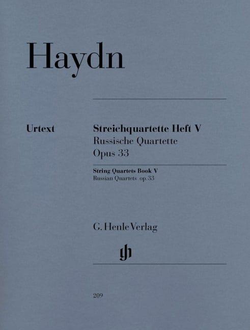 Quatuors à cordes volume V, op. 33 Quatuors russes - laflutedepan.com