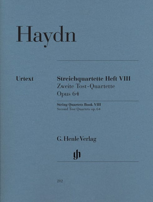 HAYDN - String quartets volume VIII, op. 64 Second Tost Quartets - Partition - di-arezzo.co.uk