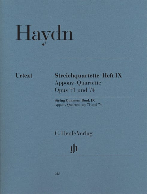 Quatuors à cordes volume IX, op. 71 et 74 Quatuors Apponyi - laflutedepan.com