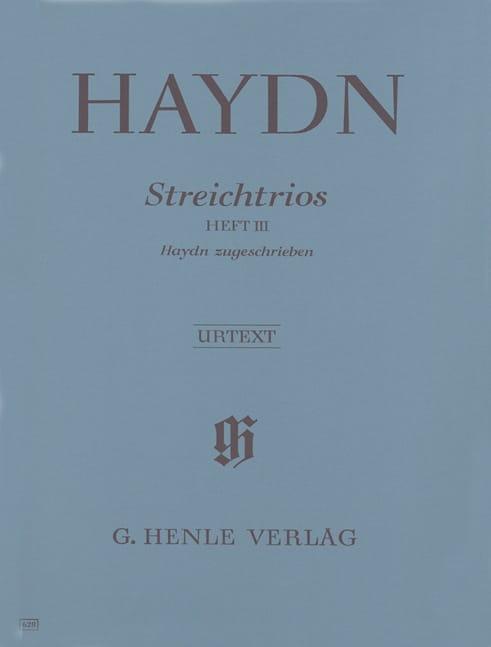 Trios à cordes, volume 3 trios attribués à Haydn - laflutedepan.com