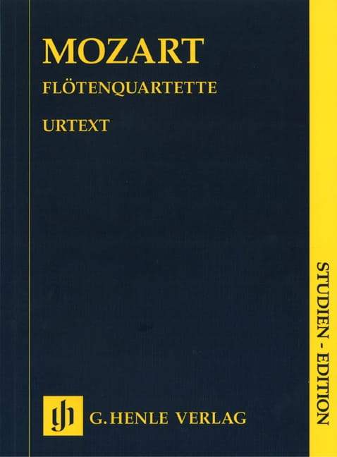 Flötenquartette -Partitur - MOZART - Partition - laflutedepan.com