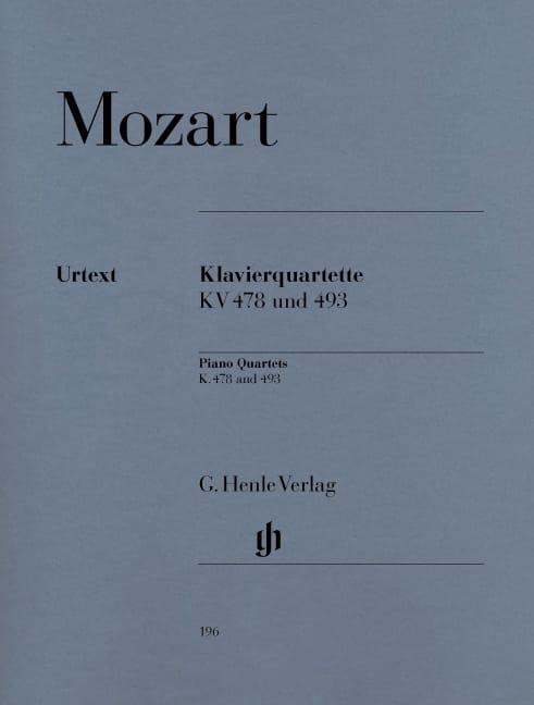 MOZART - K. 478 and 493 Piano Quartets - Partition - di-arezzo.co.uk