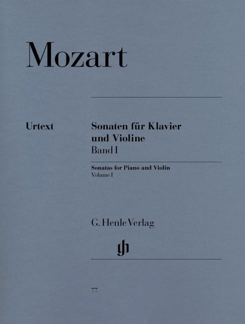 MOZART - Sonatas for violin, volume 1 - Partition - di-arezzo.co.uk