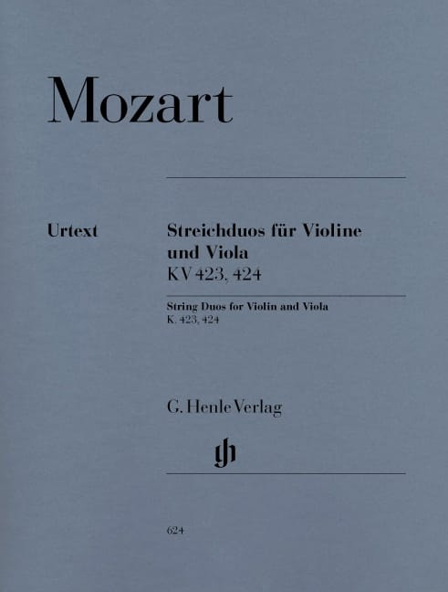 MOZART - String Duets K. 423, 424 for Violin and Viola - Partition - di-arezzo.com