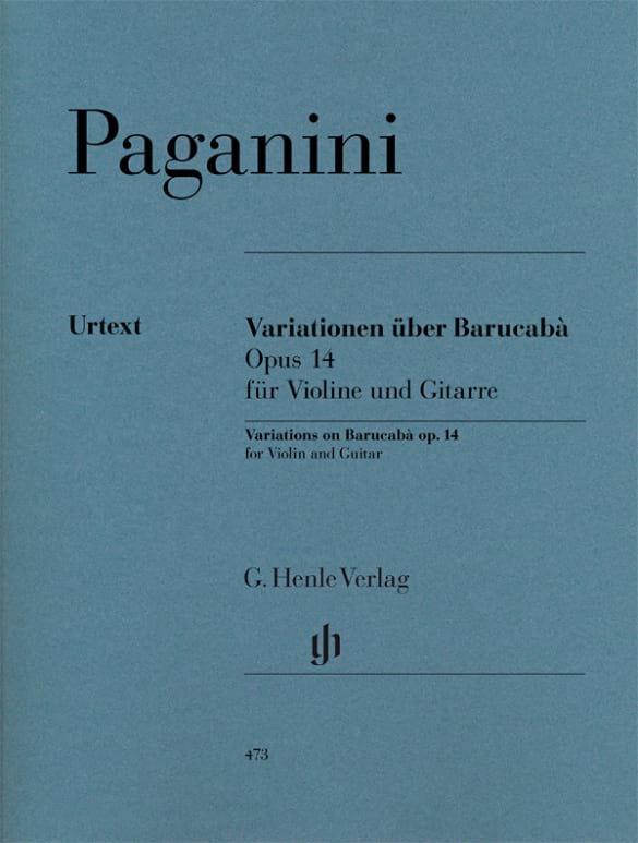 60 Variations sur Barucabà op. 14 pour violon et guitare - laflutedepan.com