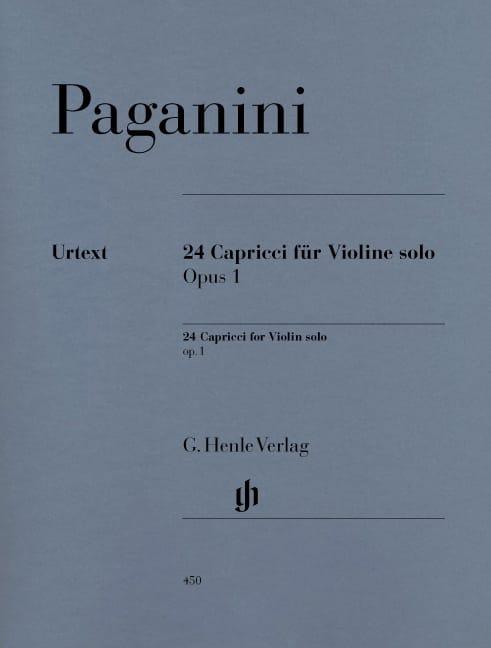 Niccolò Paganini - 24 Capricci op. 1 - Partition - di-arezzo.co.uk