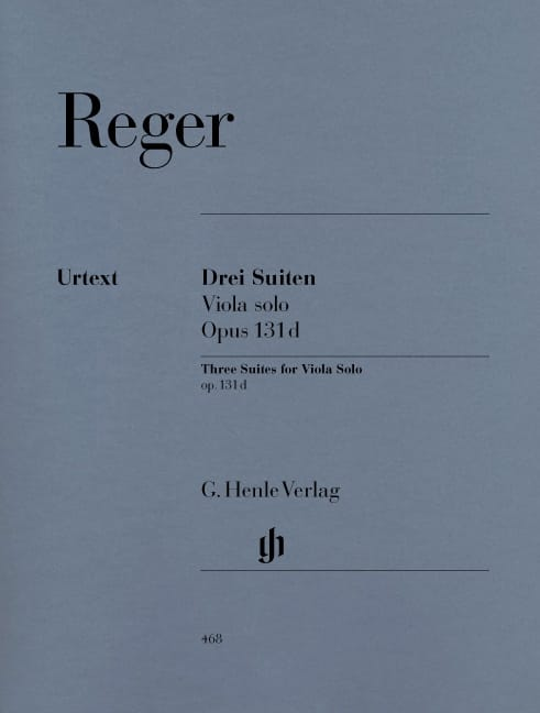Max Reger - Three Suites op. 131d for solo viola - Partition - di-arezzo.com