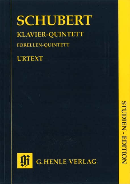 SCHUBERT - Quintet in A major op. posth. 114 D 667 Trout - Partition - di-arezzo.co.uk