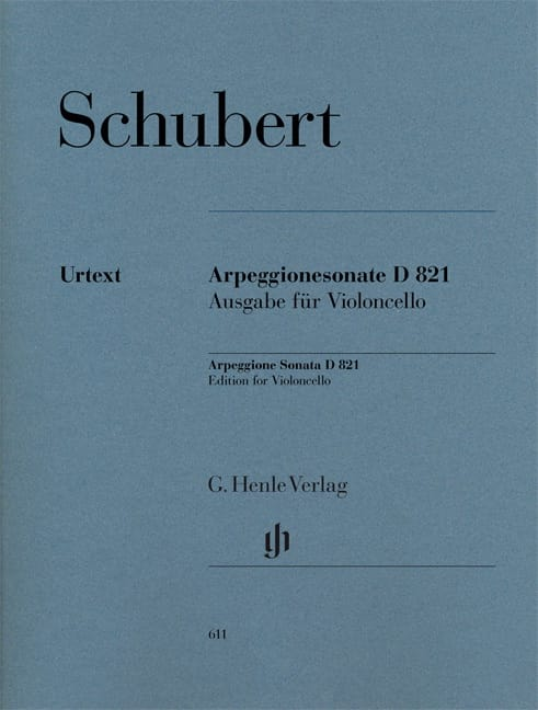 SCHUBERT - Sonata for piano and arpeggione in A minor D 821 - Partition - di-arezzo.com