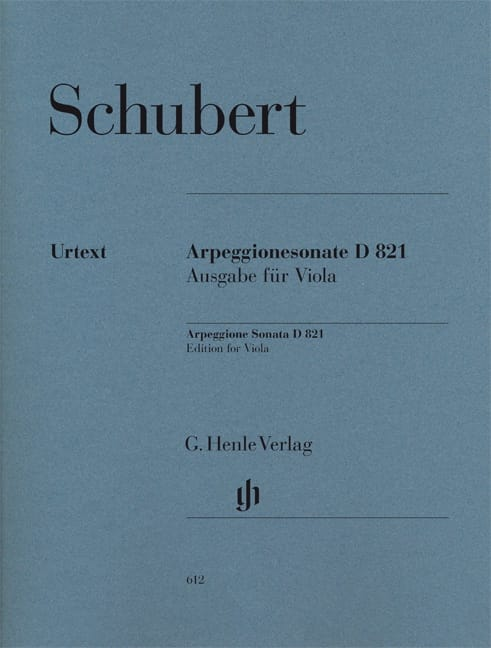 SCHUBERT - Sonata for piano and arpeggione in A minor D 821 - Partition - di-arezzo.co.uk
