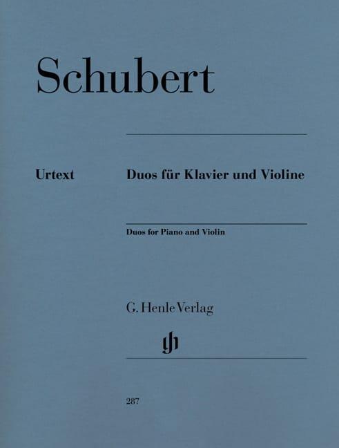 Duos pour piano et violon - SCHUBERT - Partition - laflutedepan.com