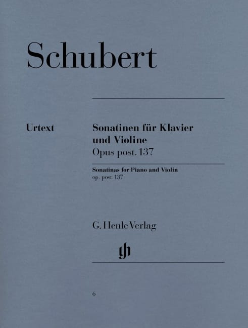 SCHUBERT - Sonatines for violin op. post. 137 - Partition - di-arezzo.co.uk