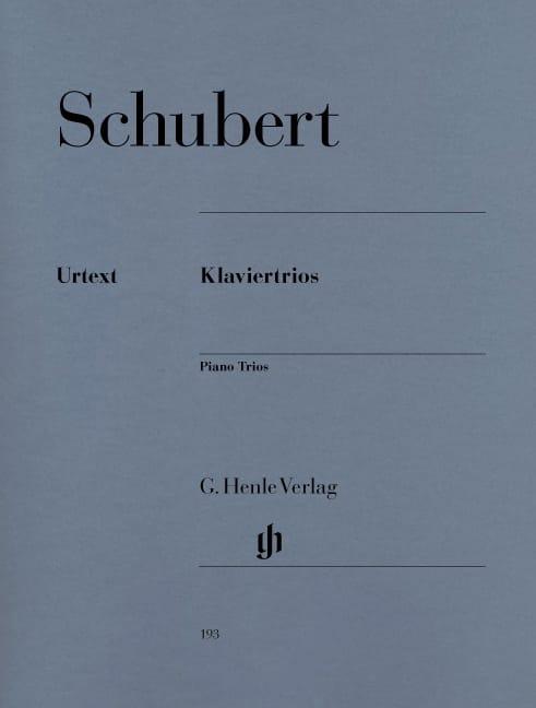 SCHUBERT - Trios with piano - Partition - di-arezzo.co.uk