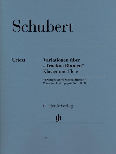 SCHUBERT - Variationen über Trockne Blumen D 802 - Partition - di-arezzo.co.uk