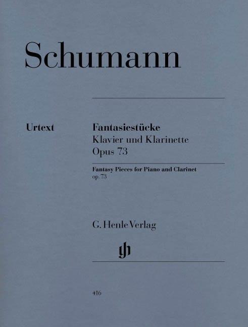 SCHUMANN - Fantasiestücke für Klavier and Klarinette oder Violine oder Violoncello - Partition - di-arezzo.com