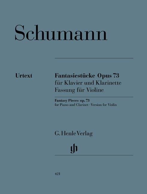 SCHUMANN - Fantasiestücke Op. 73 Version for violin and piano - Partition - di-arezzo.com