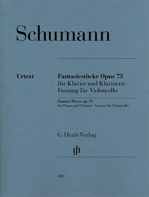SCHUMANN - Fantasiestücke op. 73 - Cello - Partition - di-arezzo.co.uk