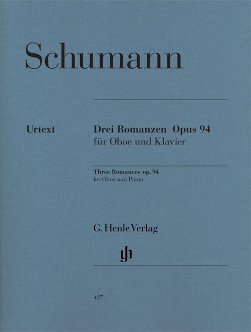 SCHUMANN - Trois Romances op. 94 pour hautbois et piano - Partition - di-arezzo.fr