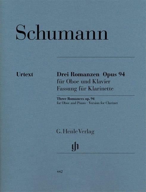 SCHUMANN - 3 Romances op. 94 - Partition - di-arezzo.com