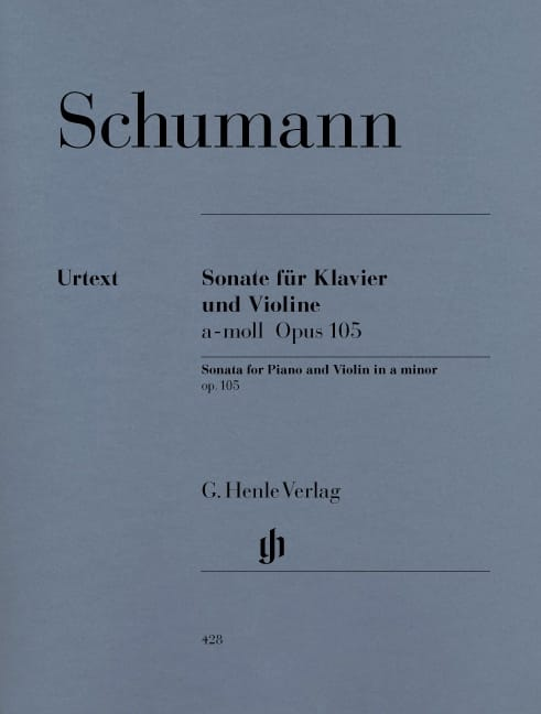 SCHUMANN - Sonata for violin in A minor op. 105 - Partition - di-arezzo.com
