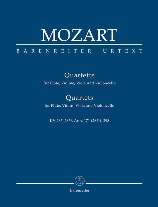 MOZART - Quartette für Flöte, Violine, Viola und Violoncello. Urtext. - Partition - di-arezzo.fr