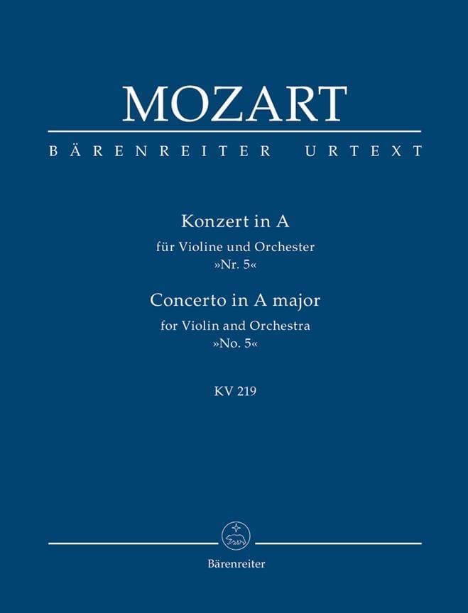 Konzert A-Dur für Violine und Orchester Kv 219 - laflutedepan.com