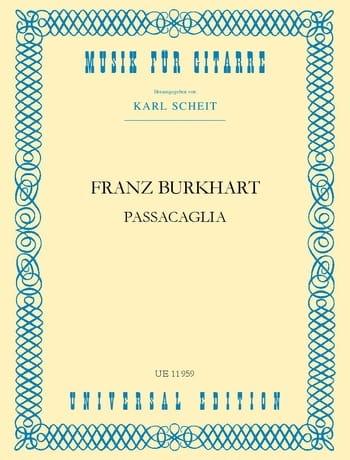 Passacaglia - Franz Burkhart - Partition - Guitare - laflutedepan.com