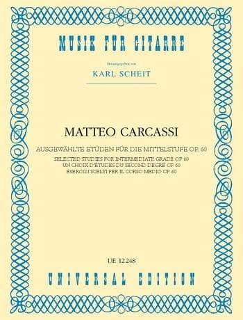 Matteo Carcassi - Ausgewählte Etüden für die Mittelstufe - Partition - di-arezzo.co.uk