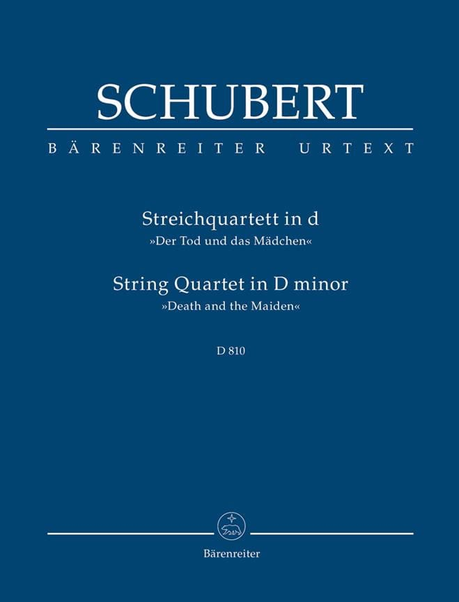 SCHUBERT - Quartet - The Girl and the Death - Partition - di-arezzo.co.uk