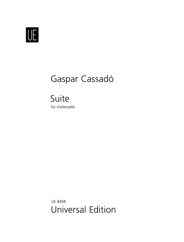 Gaspar Cassado - Suite for Violoncello solo - Partition - di-arezzo.com