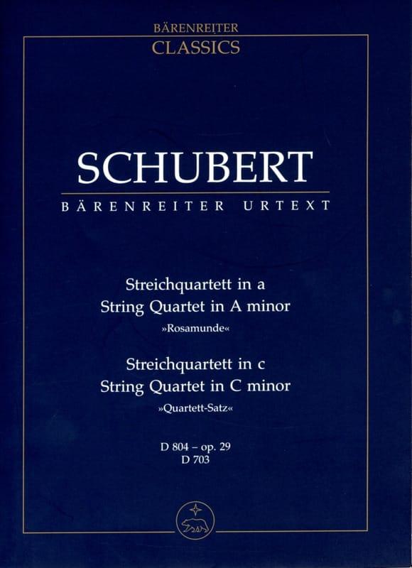 SCHUBERT - Streichquartett a-moll D 804 Rosamune - Quartettsatz c-moll D 703 - Partition - di-arezzo.es
