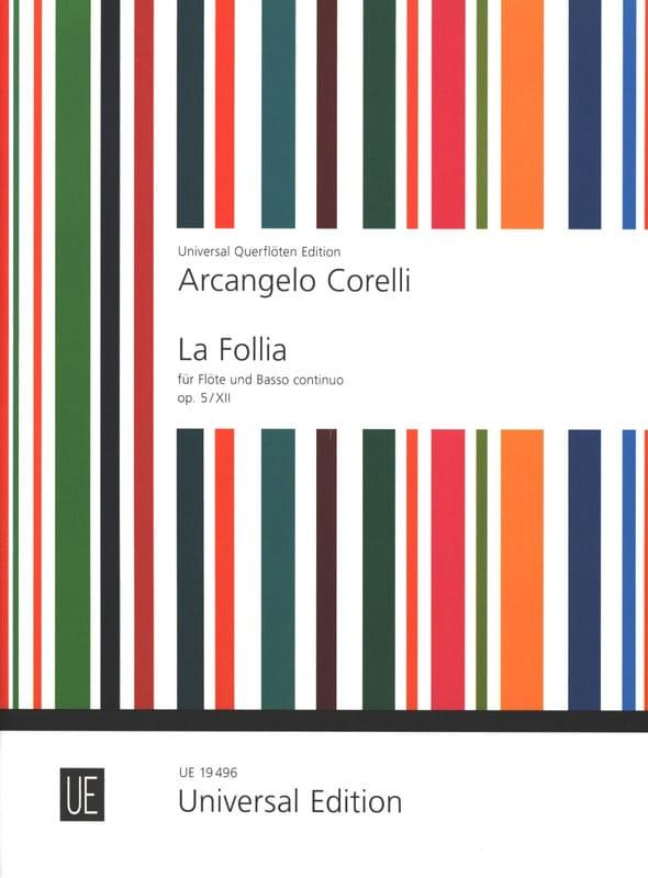 La Follia op. 5 n° 12 - Flûte et Bc - CORELLI - laflutedepan.com