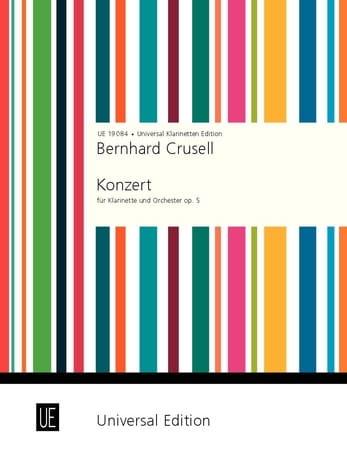 Bernhard Henrik Crusell - Konzert f-moll op. 5 - Klarinette Klavier - Partition - di-arezzo.es