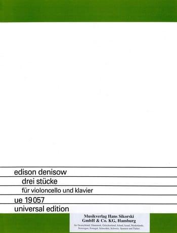 3 Pièces - Edison Denisov - Partition - Violoncelle - laflutedepan.com