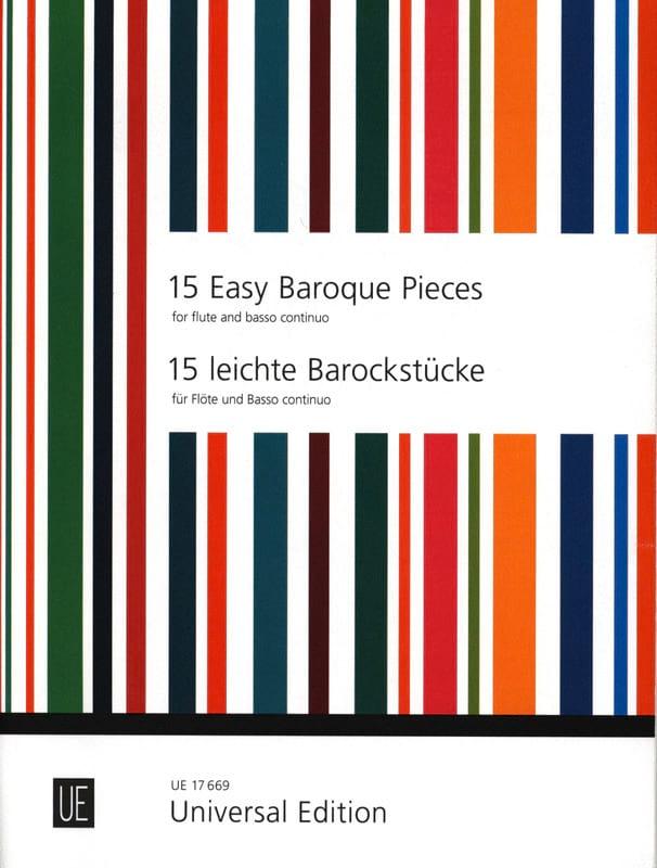 15 Easy Baroque Pieces - Frans Vester - Partition - laflutedepan.com