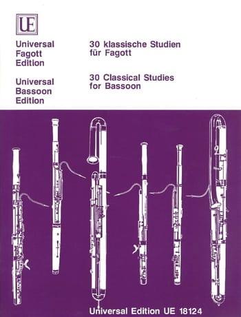 - 30 klassische Studien für Fagott - Partition - di-arezzo.es