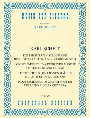 Die leichtesten Solostücke berühmter Lauten- und Gitarrenmeister - laflutedepan.com