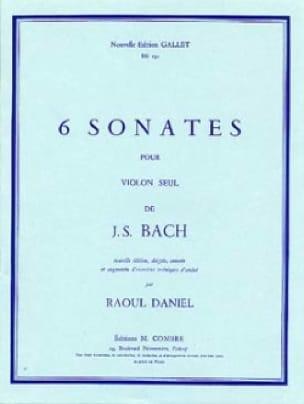 6 Sonates - BACH - Partition - Violon - laflutedepan.com