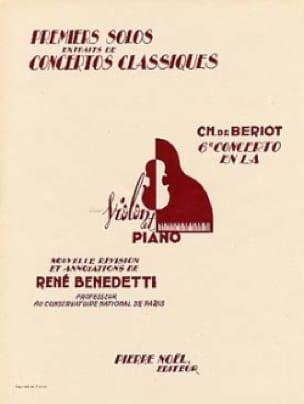 1er Solo du Concerto n° 6 en la majeur - BÉRIOT - laflutedepan.com