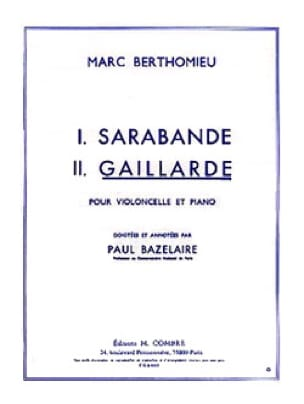 Marc Berthomieu - Gaillarde - Partition - di-arezzo.co.uk