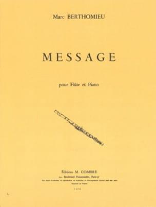 Message - Marc Berthomieu - Partition - laflutedepan.com